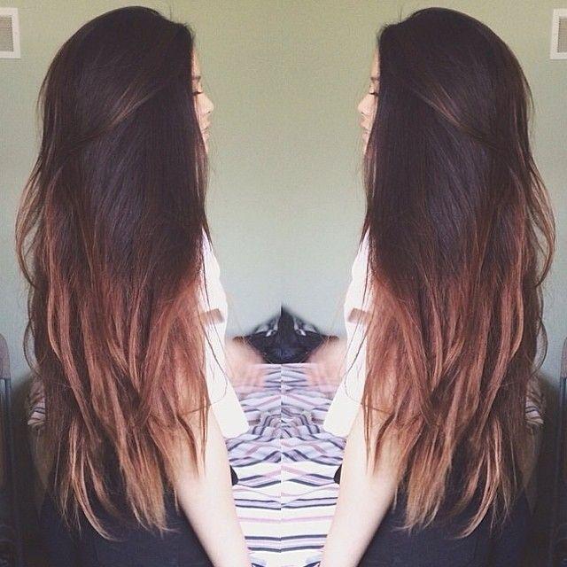 hair long , cabello largo, puntas pintadas