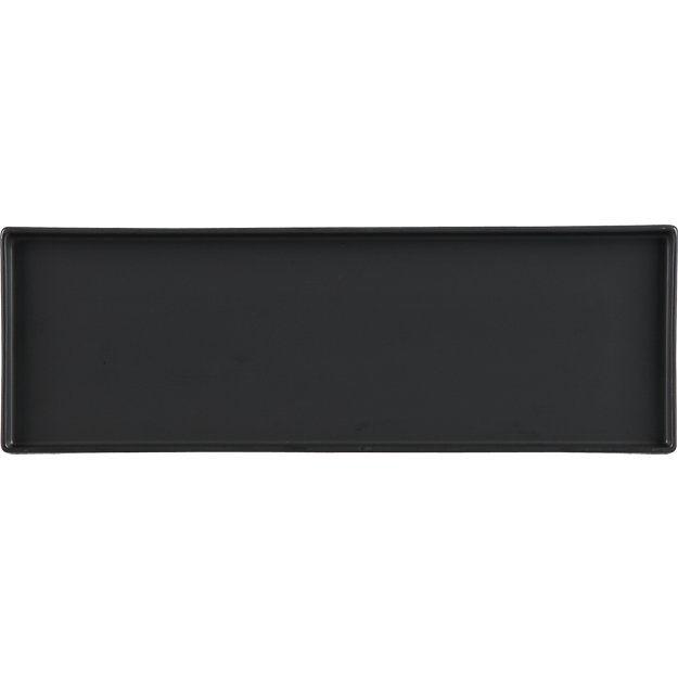 $10 bento matte black rectangular serving platter   CB2