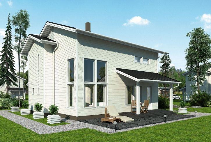 Tehokas ja avara – Ilmari: 123 m², 3 makuuhuonetta, 2-kerroksinen omakotitalo