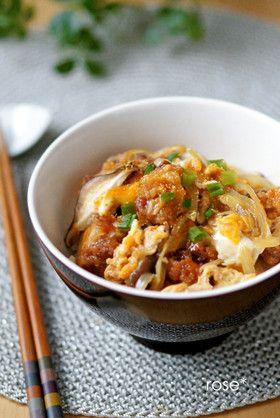 簡単ランチ♡から揚げの卵とじ丼
