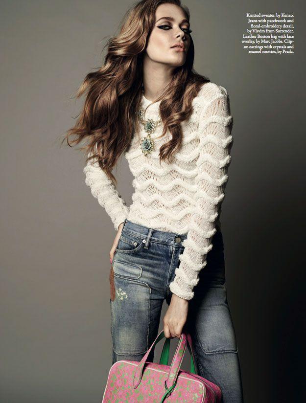 Wee Khim #photography | Style Singapore May 2012: Lana Del Rey, Fashion, Dreams Closet, Wee Khim, Style Singapore, White Shirts, Denim, Hair, White Tops