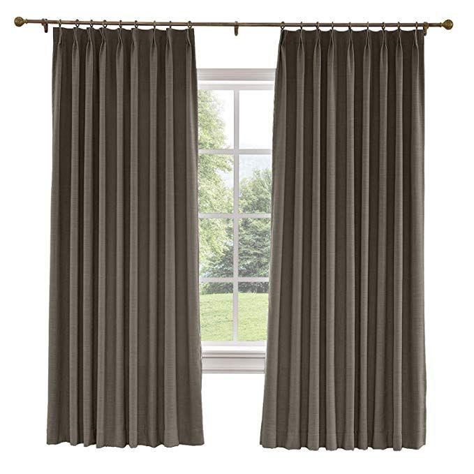 Amazon Com Prim Bedroom Extra Wide Linen Curtains Drapes Room Darkening Thermal Insulated Blackout Pinch P Curtains Large Window Curtains Curtains Living Room Extra wide pinch pleat drapes