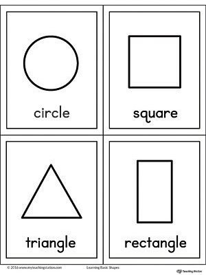 Geometric Shapes Printable Flashcards