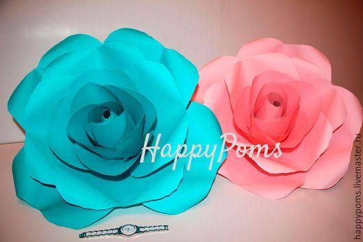 Свадебные цветы ручной работы. Гигантские розы. 1квм. Индивидуальные цвета. Мария. Ярмарка Мастеров. Большие цветы из бумаги