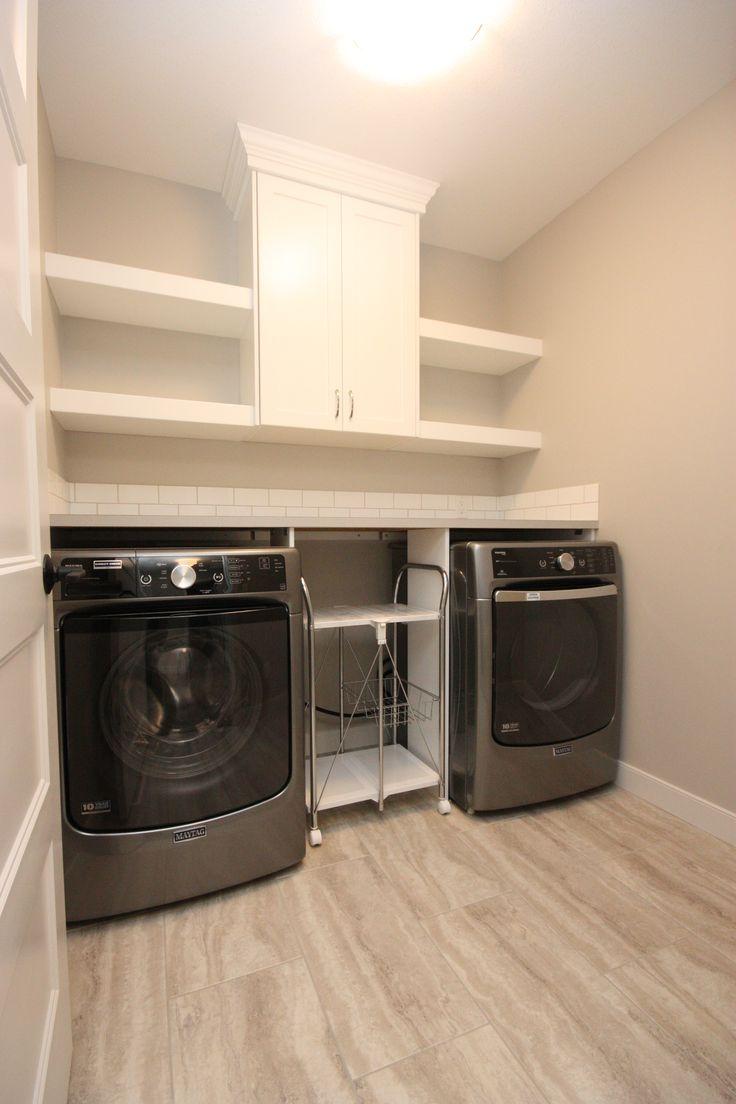 Laundry room, custom cabinets, folding area