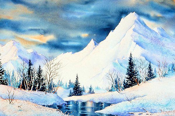 Mountains. watercolor by Teresa Ascone