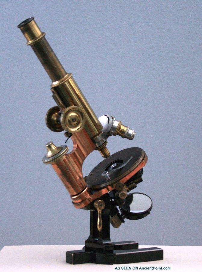Carl Zeiss Jena Antique Brass Microscope, 1891