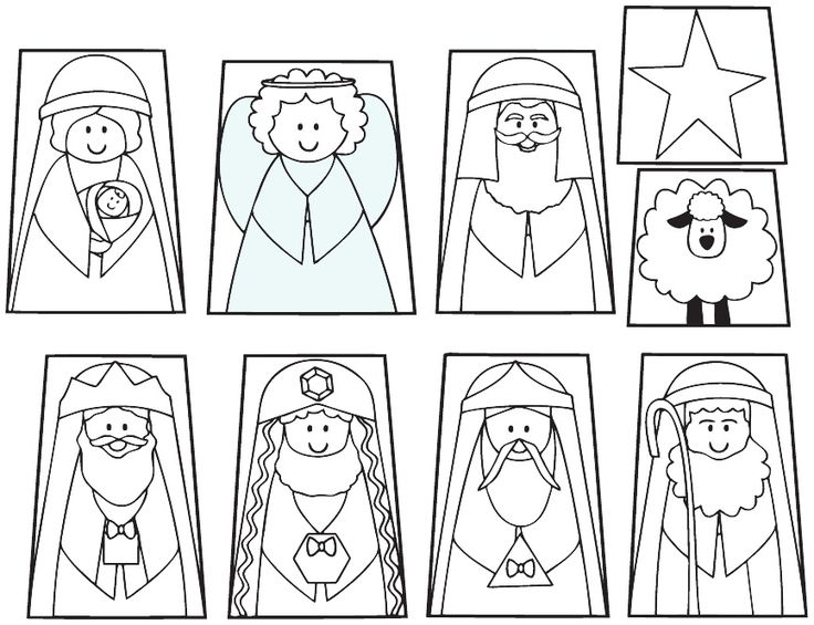 Nativity Finger Puppets and Templates