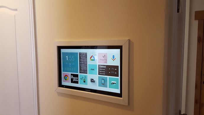 Just Finished My Wall Mounted Tablet Project And Wanted To Share It With You For Inspiration We Re Loving This T Ipad Wall Mount Wall Tablet Tablet Wall Mount