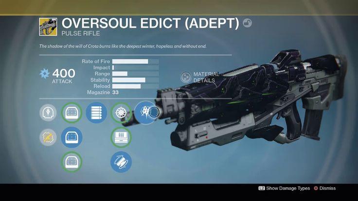 Oversoul Edict (Adept) REVIEW Destiny Age Of Triumph