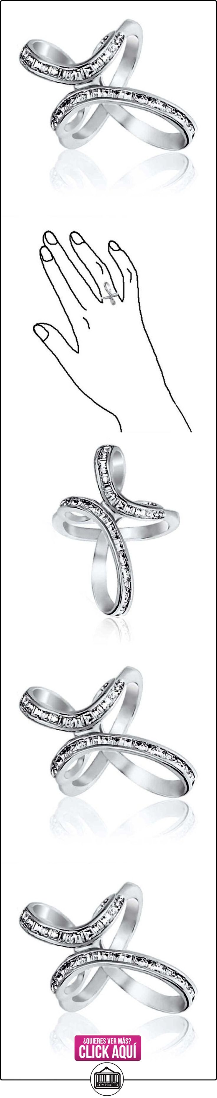 Bling Jewelry Corte Baguette CZ Plata Esterlina Anillo Infinito cruz  ✿ Joyas para mujer - Las mejores ofertas ✿ ▬► Ver oferta: https://comprar.io/goto/B01HSHYNL4