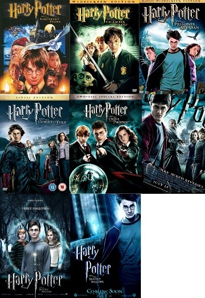 Love them all<3 harry potter is amazing c: