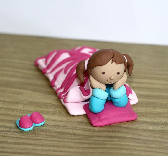 Custom Made Slumber / Pajama Party Cake Topper by JadestoneStudio, $33.00