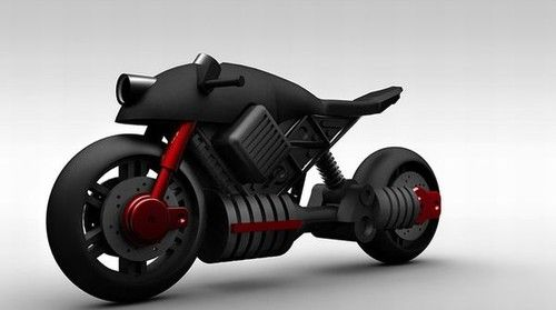 Cool Motorcycle  Design | Retro-futuristic, steam-punk style motorcycle by Matthew Law