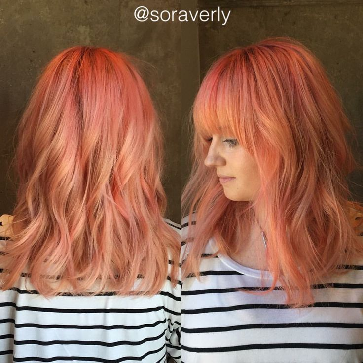 25 best ideas about pastel coral hair on pinterest