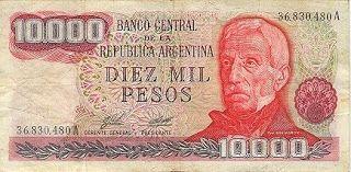 Billete de 10000 Pesos