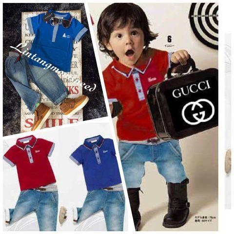 momsneed'shop: Setelan Jeans anak murah - Gucci boys set
