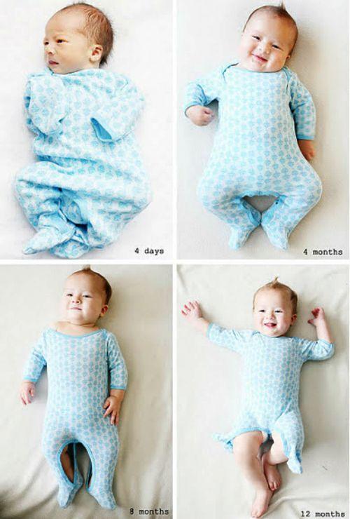 Monatliche Fotoideen für Babys (englisch)