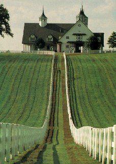 Kentucky Horse Farm ~ nice barn!!