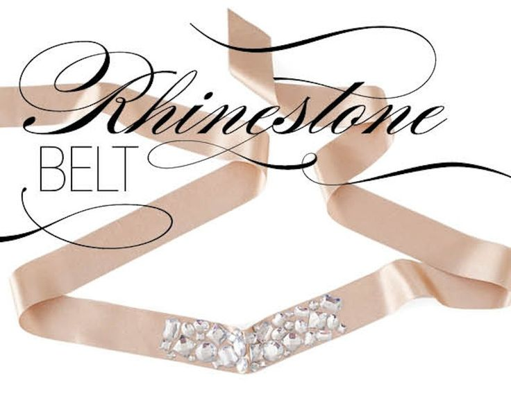 15 #DIY Fashion Projects: Rhinestone Belt
