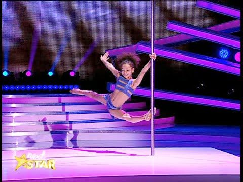 (Video) Extraordinary #8_Year_Old_Pole_Dancer!  A thrilling routine of spectacular acrobatics was performed on twin poles by totally poised and confident 8 year old Ukrainian Emily Moskalenko.  http://www.womanyes.com/video-extraordinary-8-year-old-pole-dancer/