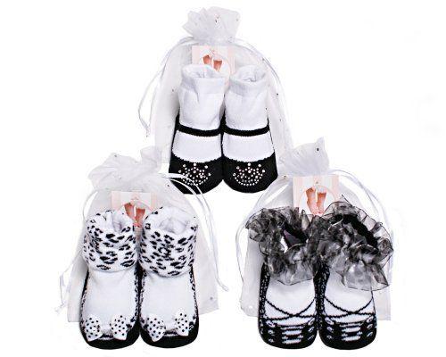 3 Pair 0-6m Black Mary Jane Socks - Baby Emporio Baby Emporio. $13.95