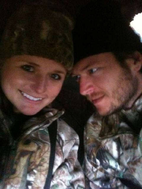 Miranda & Blake.   I'd love a picture of me & my future hubby getting ready to go hunting together!