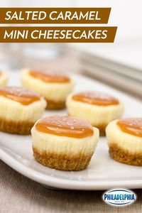 A touch of salt adds an irresistible complexity of flavor to these adorable Salted Caramel Mini Cheesecakes. Trust us: This will be the first dessert to vanish at your next holiday party.