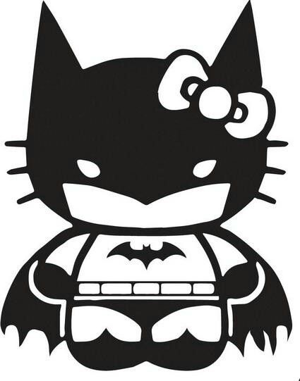 Hello Kitty Batman or Batgirl. ;) Can I have this as a tattoo please?