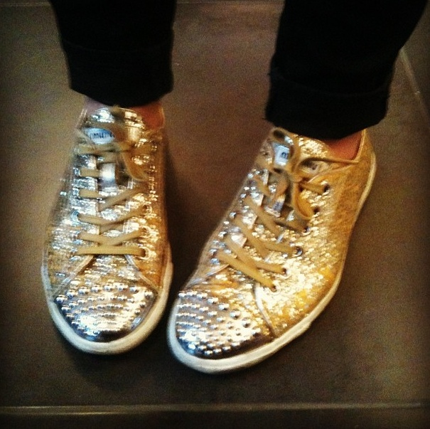 #Streetstyle Miu Miu glitter pumps! Redistributing Fashion Luxury Pop Up Shop - Feb 2013