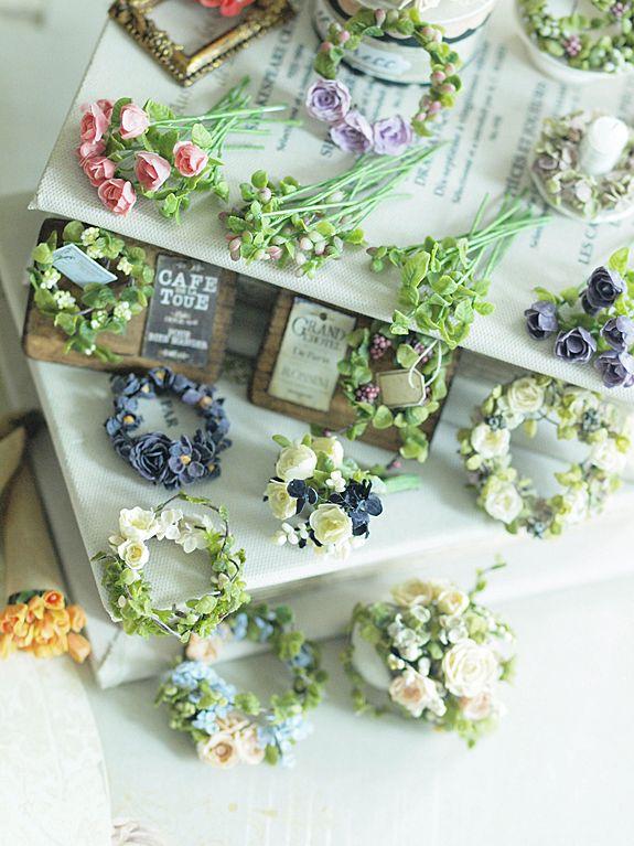 雑貨屋さんめぐりをたくさんして、感性を磨く。••   Durante las vacaciones de verano de la hija, 2 miniatura * Flor: la vida ~ muebles hechos a mano de color natural