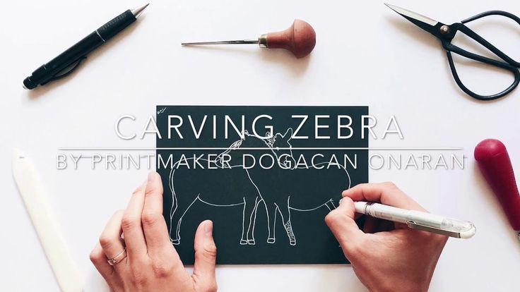 "I'm Carving ""Two Zebras In Love""   Bored Panda"
