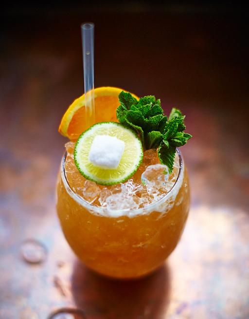Named at a time when a lot of booze went into this drink, our version is lighter with two kinds of rum rounded off by the tropical fruit flavours.
