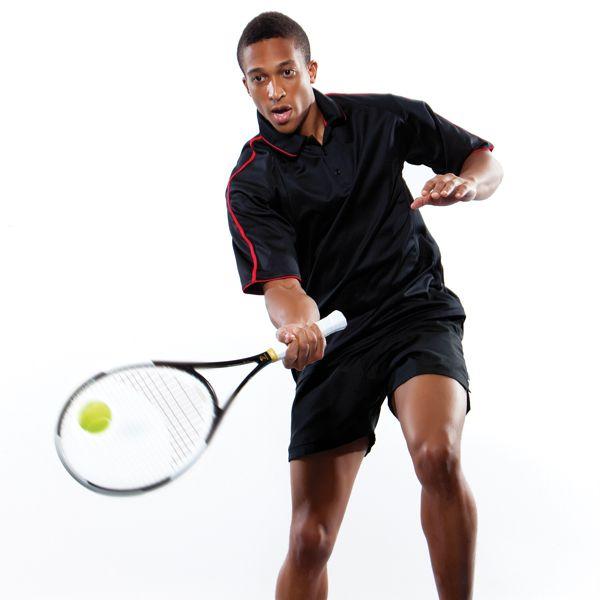Anyone for tennis: moisture wicking fabric polo