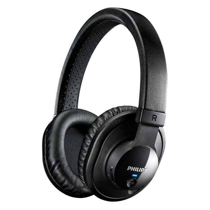 Philips SHB7150FB/27 Wireless Bluetooth Headphones with Microphone (Black) #Philips