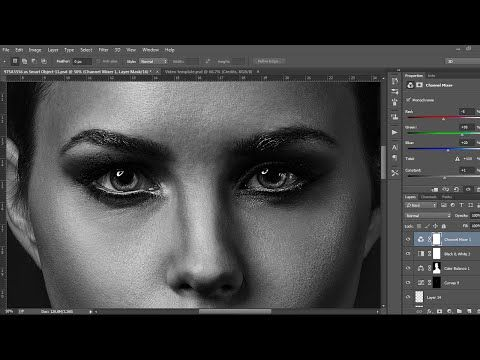 High End Beauty Retouch photoshop tutorial - YouTube