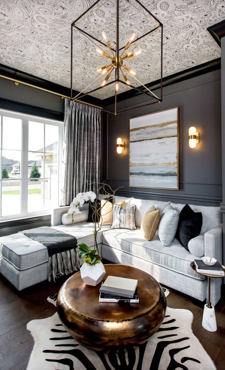 Black And Gold Decor Living Room Grey Transitional Decor Living Room Transitional Living Room Design