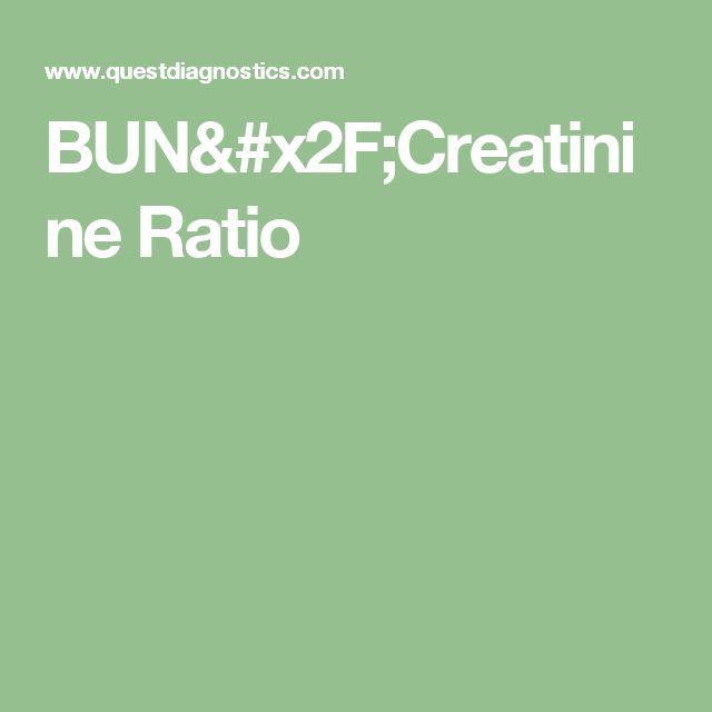 BUN/Creatinine Ratio