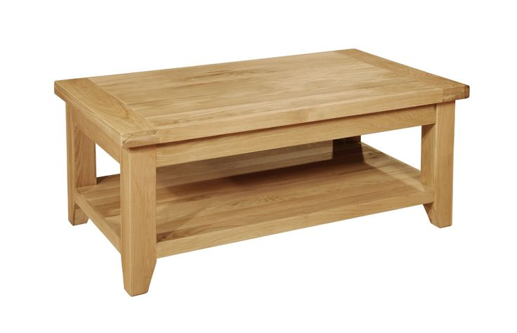 Provence Rectangular Coffee Table with Shelf are well constructed and are built to last, covering a huge range of styles from contemporary. solidwoodfurniture.co/product-details-oak-furnitures-3234-provence-rectangular-coffee-table-with-shelf.html