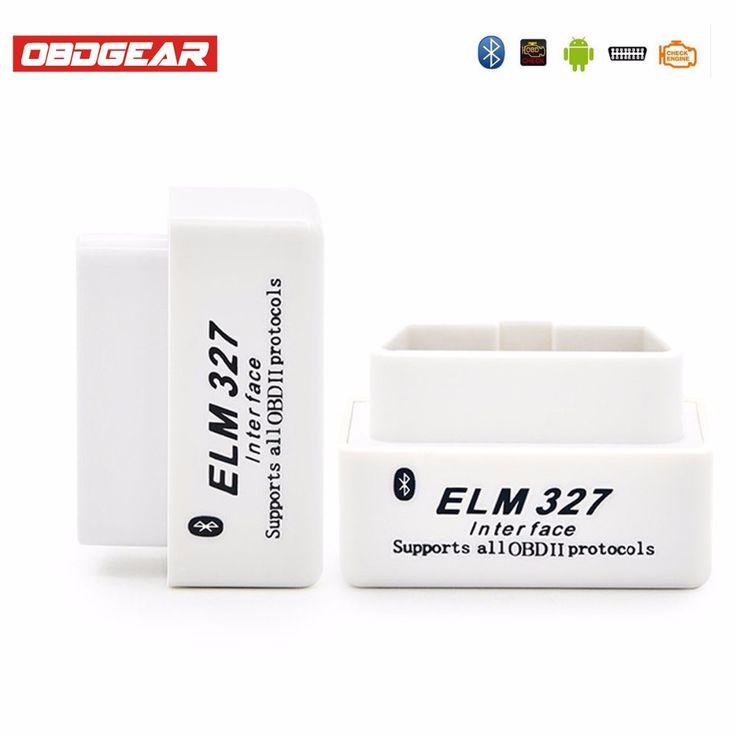 hot sale elm327 v15 obdii bluetooth adaptor scanner white car diagnostic tool for