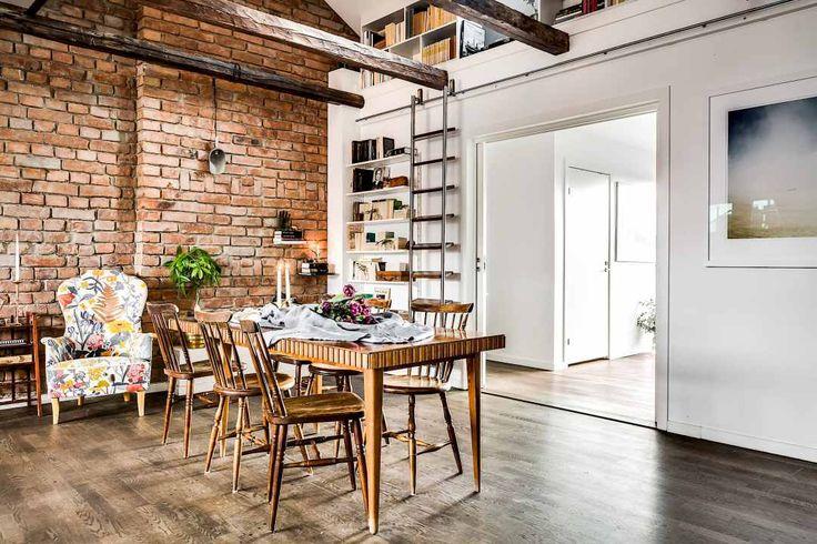 suelo de madera oscura estilo nórdico decoración interiores decoración atico blog decoración nórdica