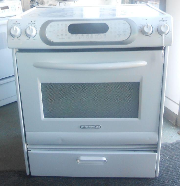 Appliance city kitchenaid 30 inch range slide in white