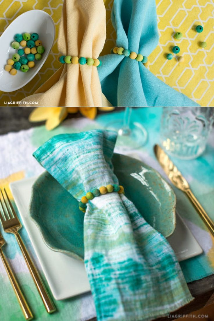 #DIY Beaded Napkin Rings tutorial at www.LiaGriffith.com: