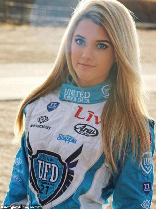 Female Indyracecar Driver Appeals For Sponsors By Posing -5028