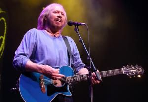 Barry Gibb of The Bee Gees performs solo in concert during his Mythology Tour 2014 at the Wells Fargo Center on Monday, May 19, 2014, in Philadelphia.