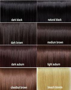 Beautiful Dark Brown Hair Color Chart