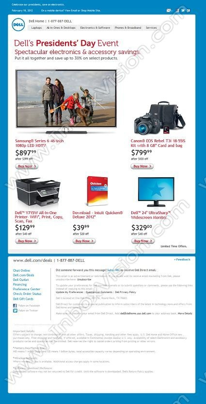 Company: Dell Inc.   Subject: Stars and stripes and savings up to 30%         INBOXVISION, a global email gallery/database of 1.5 million B2C and B2B promotional email/newsletter templates, provides email design ideas and email marketing intelligence. www.inboxvision.c... #EmailMarketing  #DigitalMarketing  #EmailDesign  #EmailTemplate  #InboxVision  #SocialMedia  #EmailNewsletters