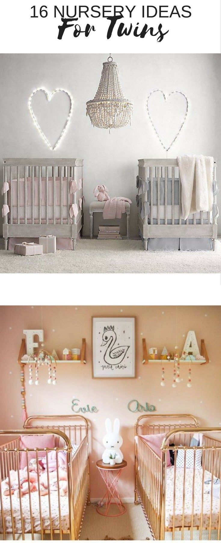 Here's a round up of some of the most gorgeous twin nursery ideas I've come across to inspire you to think outside the box.