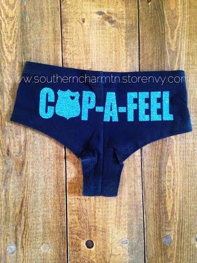 love it! Cop-A-Feel LEO Police Officer Boy Shorts