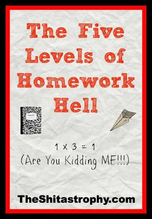 The Five Levels of Homework Hell - #parenting #funny #humor #Shitastrophy